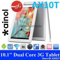 "Ainol AX10T 10.1"" 3G Tablet PC MTK8312 Dual Core Dual SIM Phone Calling WCDMA GSM GPS Bluetooth Ainol Numy 3G AX10T FREE GIFTS"