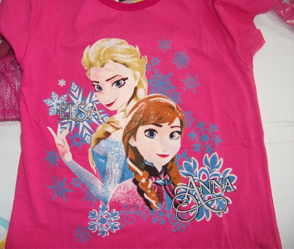 Frozen princess kids pajamas set new 2014 fashion summer elsa &; anna