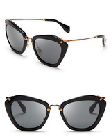 2014 New Brand Women's Embellished Cat-Eye Sunglasses Metal Leg Glasses  G-11 Free Shipping