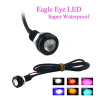 New 2014 DIY Car Eagle Eye Led Light 1.8cm 12V 9W Parking Lights Waterproof Eagle Eye LED Daytime Running Lights 6 Colors