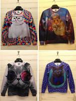 High quality 3D Print Animal Sweater Fat Cat King Hamster Crazy Cat Glass Cat FACE Print Hoodie 3D Sweatshirt