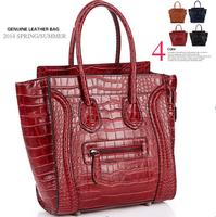 Fashion Messenger bags Crocodile Pattern Women Handbag Genuine Leather Tote Brand Shoulder Bag New 2014 women's designer bags
