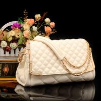 New 2014 Women Messenger Bags Desigual Messenger Bag Brand Women Handbag PU Leather Handbags Long Chain Diamond Plaid Bag WB3064