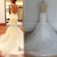New Arrivals Stunning Nice Back Mermaid Lace Wedding Dress