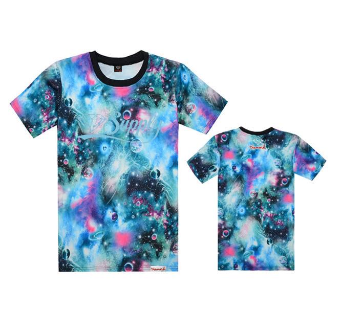 T -shirt básica homens Abastecimento Diamante co Roupa hip hop Casual esporte ao ar livre de manga curta roupa camiseta moda(China (Mainland))