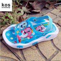 2014 new listing children's summer sandals pvc shoes kid's sandals boys girls unsex cartoon sandals slippers sound