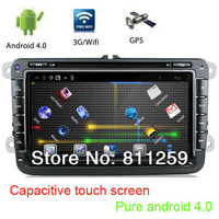 With canbus capacitive touch screen pure android 4 car dvd radio for volkswagen magotan sagitar golf