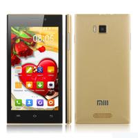 XIAOMI MI3 M3 style 5.0 inch HD screen SC8825 1.2GHz Dual Core CPU android 4.2 Dual Sim cards phone russian flip cover