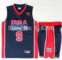 Michael Jordan 1992 Dream Team Jersey 1992 USA Dream Team 9 Michael Jordan Basketball Jersey Basketball Shorts Free Shipping