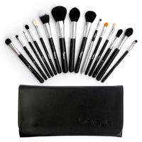 Luxury 15 Pcs Makeup Brushes Tools 2014 New SixPlus Cosmetic Blush Powder Eyeshadow Foundation Make up Sets Kits Bag