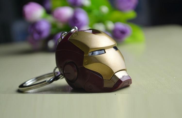 free shipping classic toys Iron man Memorial mask key chain keychain hangings(China (Mainland))