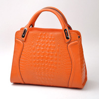 Quality serpentine pattern vintage women's leather handbag bag large capacity shoulder bag women bags