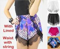 women lace shorts new 2015 hot summer England Style Fashion Navy Blue female Short Mini Spring Casual  feminino Shorts wholesale
