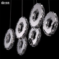 free shipping Wind fire wheels stainless steel crystal lamp led pendant lamp restaurant lamp personalized pendant light 81060