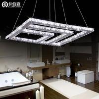 free shipping Fashion stainless steel led crystal lighting living room pendant light restaurant lamp bedroom lamp 81006