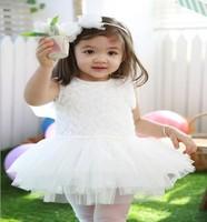 next retail high-quality 100% cotton girl's dress    kids sleeveless dresses  newborn baby princess dress