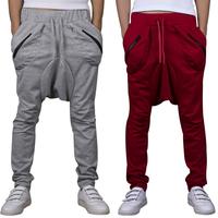 pants for men drop crotch outdoor slim fit pants men red harem dance pants for mens hip hop fashion jumpsuit men linen trousers