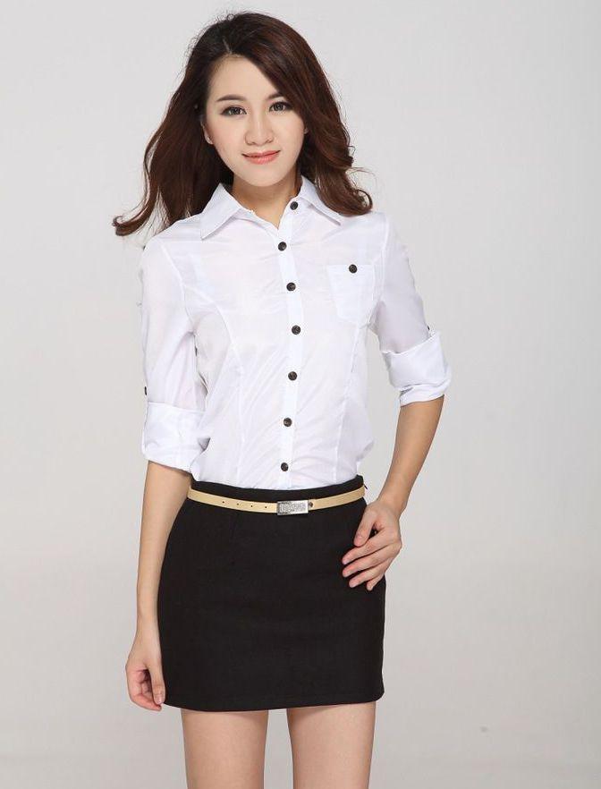 Simple Shirt Female Work Wear Women39s Long Sleeve Shirt Business Formal Shirt
