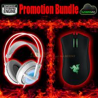 Promotion Bundle, Razer Deathadder 2013 + Steeleeries Siberia Frostblue, Brand New Free Shipping