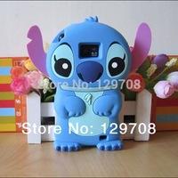 Lilo 3D Cartoon Stitch Soft Silicone Silicon Case Cover for Samsung Galaxy S2 SII i9100 1pcs/lot