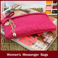 Fashion  Women Bags Evening Bag Day Clutch Casual Gentlewomen Women's leather  Messenger Bags phone package free shipping