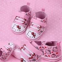 Retail Baby Toddler shoes!  Baby hello kt toddler shoes fashion cartoon prewalker Free shipping LittleSpring GTJ-X0101 XLS