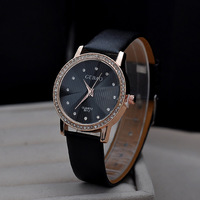 JW023 New Arrival Casual Watch for Unisex Strap PU Leather Clock Quartz Watch