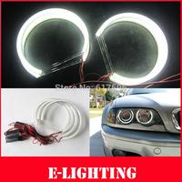 4X131MM LED COB Angel Eye Halo Light Error Free for BMW E46 E39 E38 E36 White 3 5 7 series