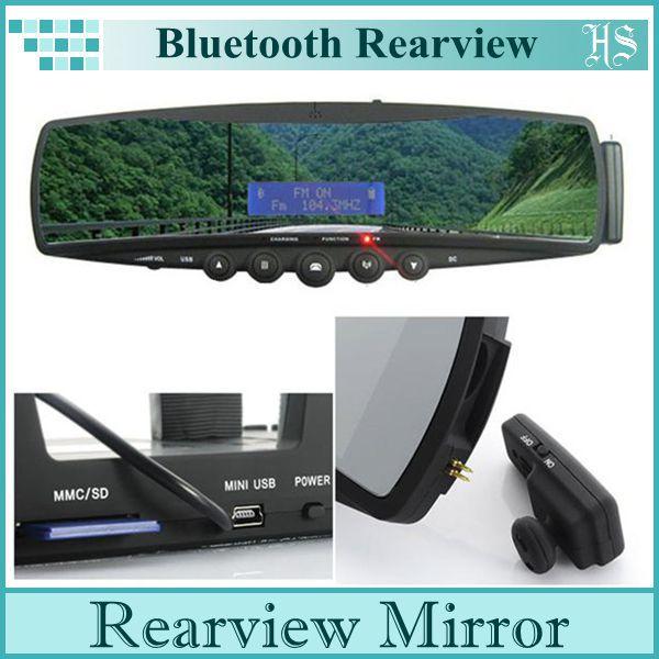 Bluetooth Speakerphone Hands-Free Car Kit Car Rear view Mirror / FM Transmitter / Mp3 player(China (Mainland))