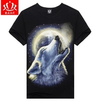 2014 Free Shipping Punk High Quality 3D Print Cotton T shirt All kinds of animal men's t shirts rock style 3 d t shirt D-0010