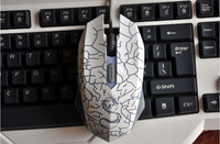Wired mouse cf lol notebook colorful breathing light usb large mouse game mouse