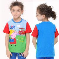 Children's Clothing t-shirts for Boy Kids Accessories Peppa Pig Cotton Shirt 2014 Girl Clothing Girls Boy t-shirt Short Sleeve