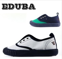 EDUBA brand children's sneakers for boys and girls mixed colors green canvas toddler shoes, baby first walkers
