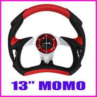"RACING STEERING WHEEL MOMO 13"" PVC+PU AIUM BRACKET,ABS HORN MOUTH, DRIFTING STEERING WHEEL FOR MODIFIED"