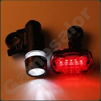 free shipping Waterproof LED Bike Bicycle Head Light+ Rear Flashlight