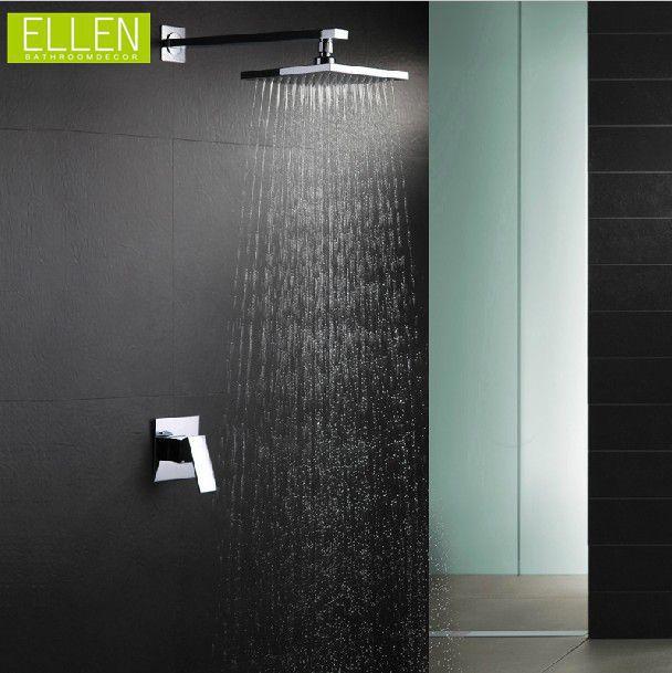 "Bathroom In Wall Shower Set With 8"" Rain Shower Chuveiro Set Shower Hotel(China (Mainland))"