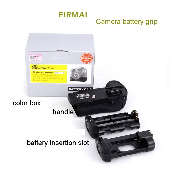 EIRMAI battery grip for Nikon D600 Digital Single Lens Reflex camera battery,Free shipping(China (Mainland))