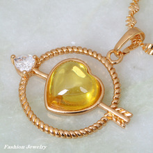 Cupid of Love 18K Yellow gold plated Fashion Jewelry Morganite Necklaces pendants P200
