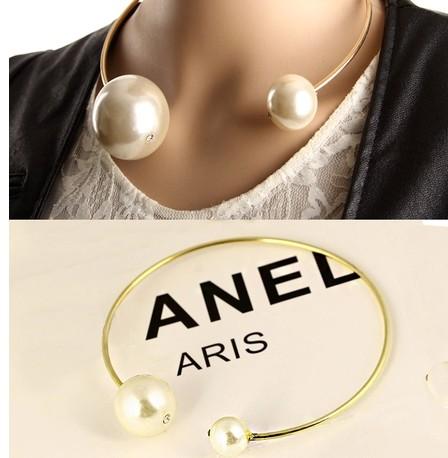 [해외] 2015 New Fashion punk size double slider big pearl a..