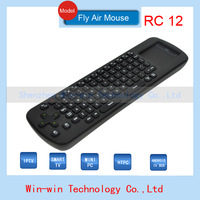 In stock original measy rc12 english version wireless air keyboard mouse Touchpad for windows android device mini pc tv stick