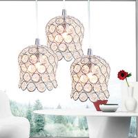 free shipping Modern brief living room lights led crystal lamp   fitting hall pendant light