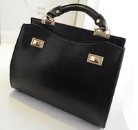 Free shipping 2014 new Fashion handbags European and American retro trend Double Lock Shoulder Messenger Bag Stereo handbags