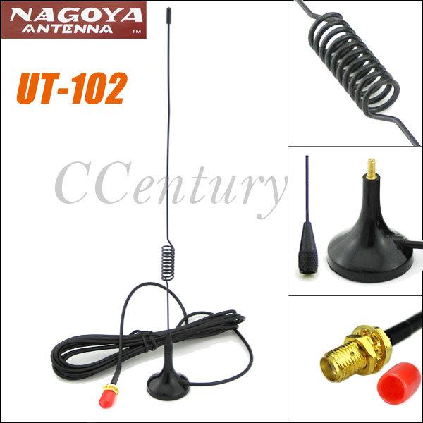 Nagoya VHF UHF Dual Band Antenna UT-102 for Kenwood Baofeng UV-5R Wouxun KG-UVD1P Quansheng Walkie Talkie Ham Car Mobile Radio(China (Mainland))