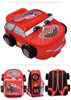 2014 cars lightening toys baby children kids kindergarten boys cartoon backpack girls school bag, good quality, S,M,L, red/blue