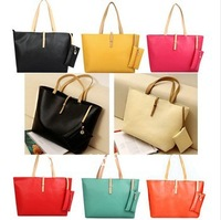 HOT! Black Leather Fashion Luxury Lady Ladies Women's Messenger Bags Woman Shoulder Handbag Bag
