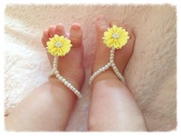 Baby summer Barefoot Sandals shoes for Girls and Boys Infant First Walkers Shoes Free shipping