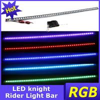 2PCS/ LOT 17.32inch 48pcs 5050 LED Rider Light knight Bar multi-color ABS rubber led strobe flash lighting +remote free shipping