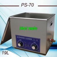 Free shippig to Russian ultrasonic cleaner 19L AC110/220V PS-70  using jewelry,mold,19L printer cleaning with timer and heater