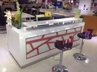 bar  floor shop fashionable cool straight reception  lacquer reception desk  table counter furniture#Q2406