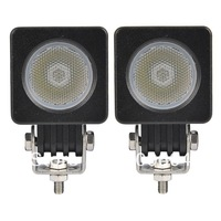 2PCS DC 12V 24V 10 Watt LED Drving Work Light SPOT FLOOD Lamp Tractor Truck SUV UTV ATV Offroad Day Running light
